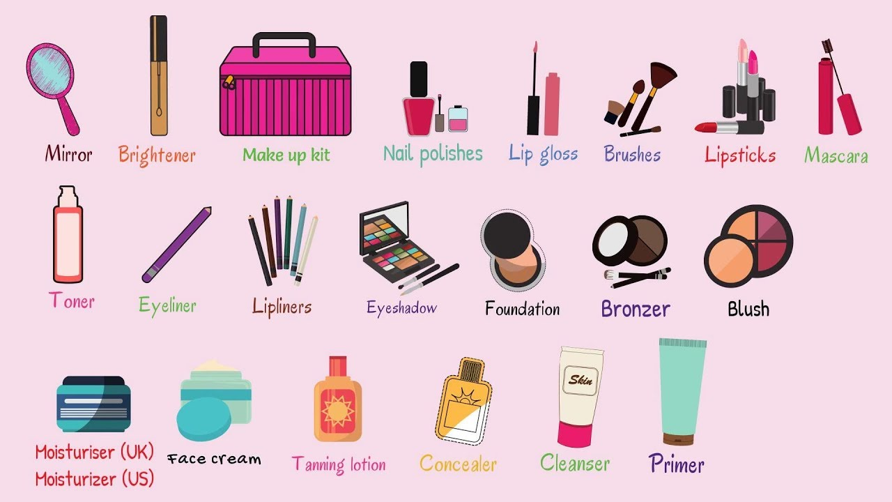 Kids vocabulary learn english vocabulary makeup and - Bathroom items that start with l ...
