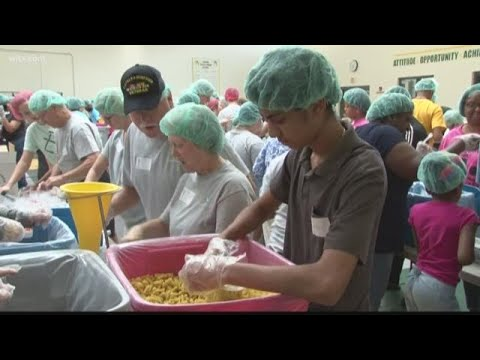 Thousands of Meals Packed for Hurricane Florence Victims