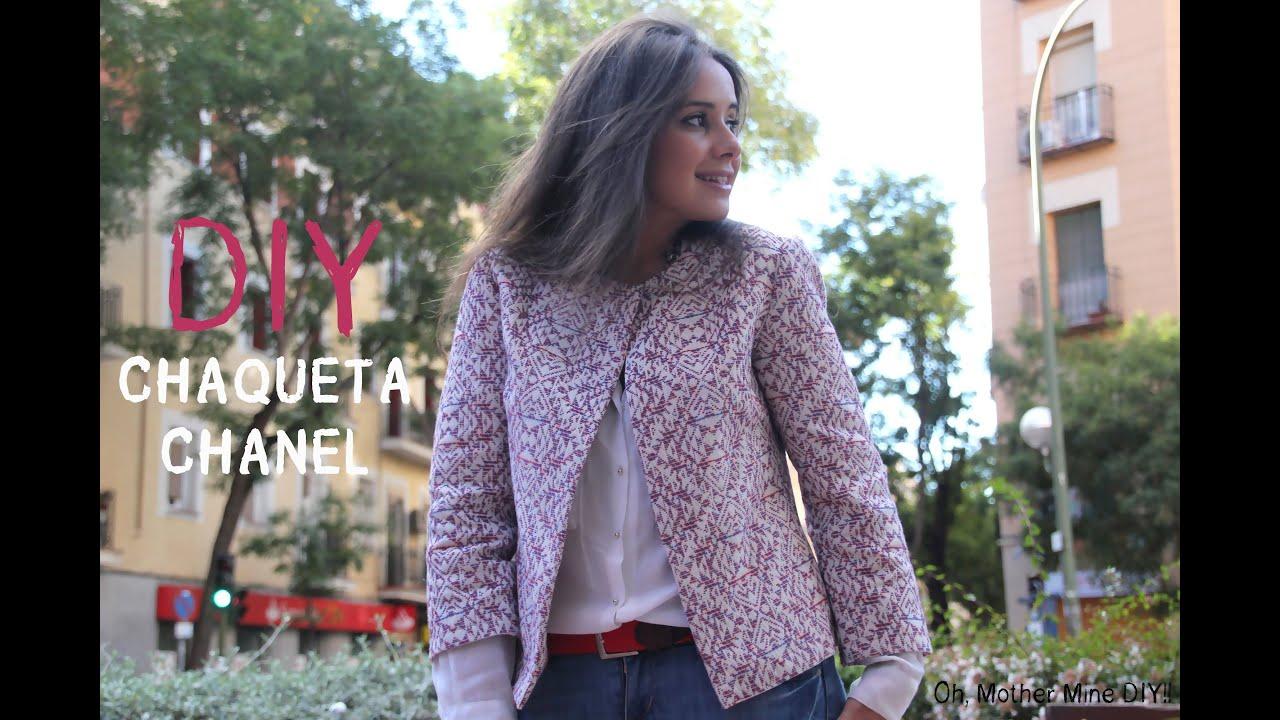 DIY Chaqueta Chanel (patrón gratis incluido) - YouTube