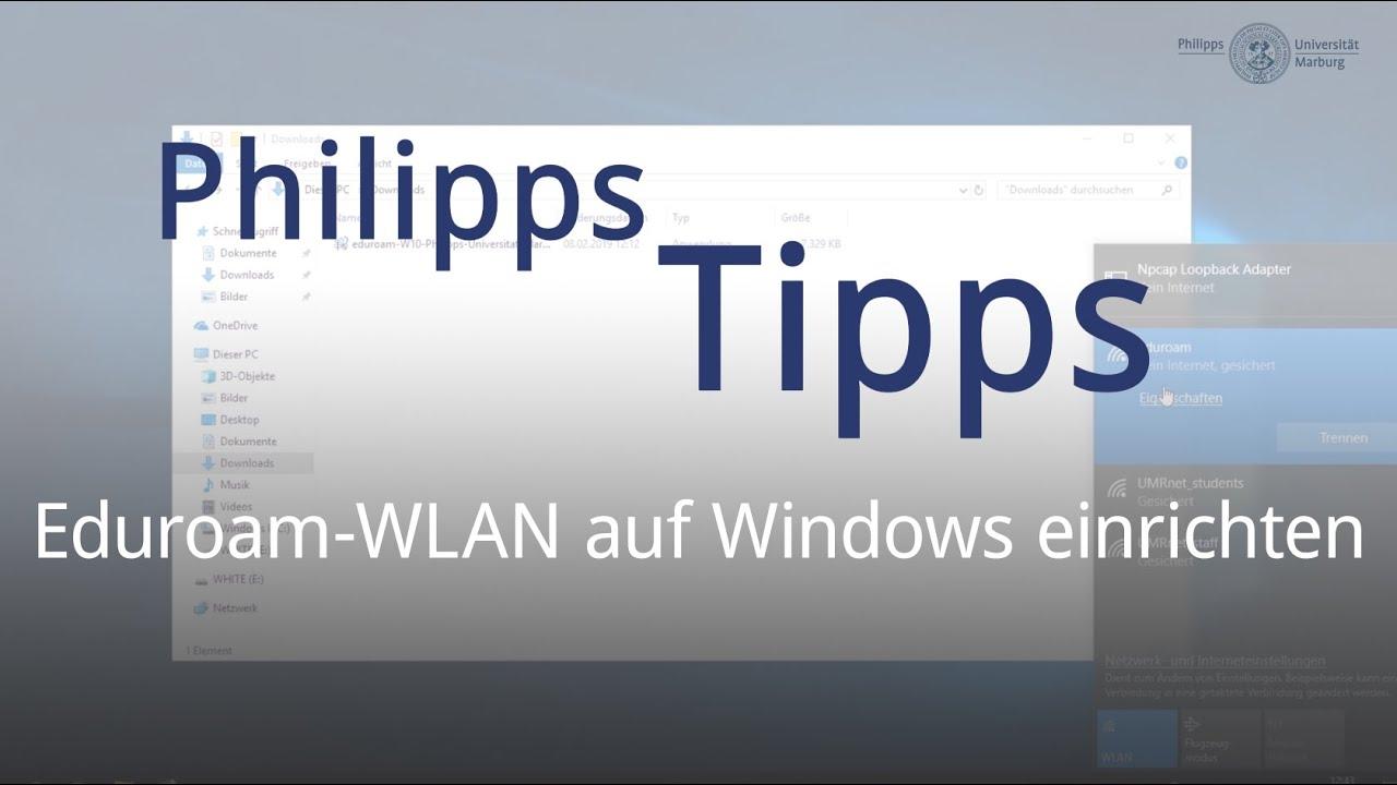 Eduroam-WLAN einrichten in Windows