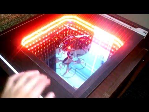 Смотреть Самодельный музыкальный cветодиодный стол-портал зеркало с подсветкой  LedLight table