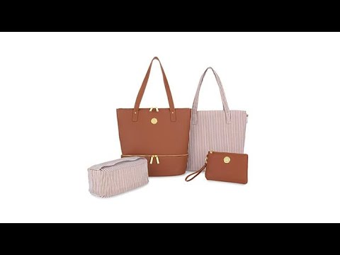 006db2069b53 JOY Smart Chic Leather Handbag Set - YouTube