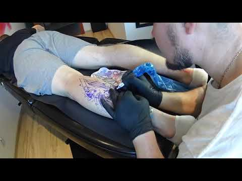 Watercolor Lion Tattoo Timelapse