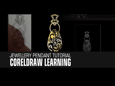 Tutorial Convert Sketch jewellery to lineart in coreldraw
