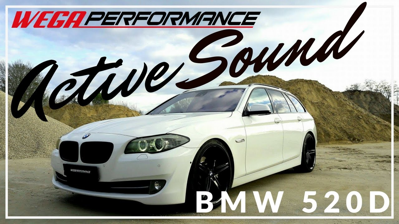 active sound system bmw f11 520d by wega performance youtube. Black Bedroom Furniture Sets. Home Design Ideas