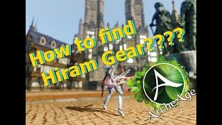 How to find and feed Hiram Gear? (Feeding a T3 Epic) Aria Server.