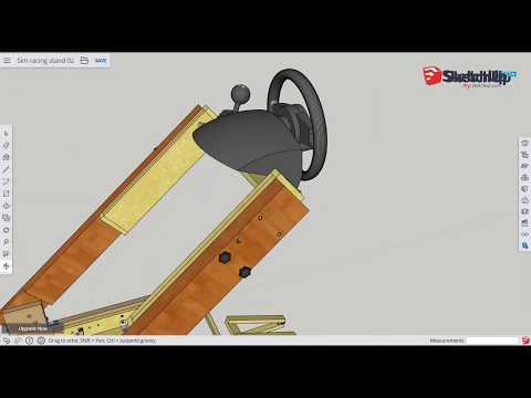 Foldable DIY sim racing stand