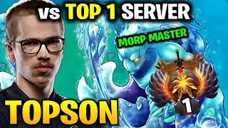 Topson is Becoming Morphling Master - Take Down top 1 Server