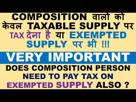 GST : Tax on exempted supply BY Composition Person, Is Tax payable on EXEMPTED SUPPLY by Composition