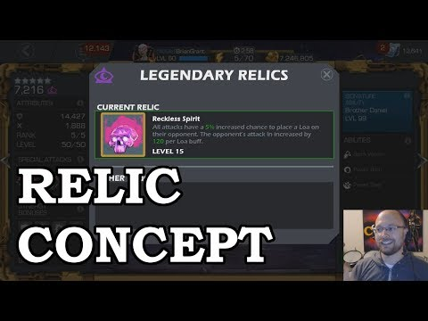 Relic Item System Concept | Marvel Contest of Champions