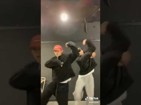 ENHYPEN heeseung and sunghoon dance to tiktok 'ICE CHALLENGE' focus