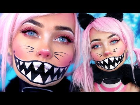 CHESHIRE CAT FLOATING HEAD HALLOWEEN MAKEUP TUTORIAL ad