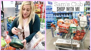 SAM'S CLUB SHOP WITH ME HAUL / SHOPPING TIPS