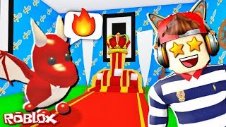 🐲🔥 MADE A HOUSE OF KING FOR PET DRAGON! 🐲🔥 ADOPT ME! ROBLOX
