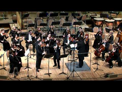 J.S. Bach. Concerto for two violins and orchestra. Movement 1
