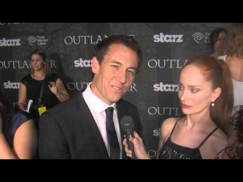 Lotte Verbeek and Tobias Menzies Outlander red carpet Comic Con 2014