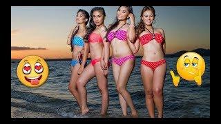 Порция гламурных азиаток на пляже