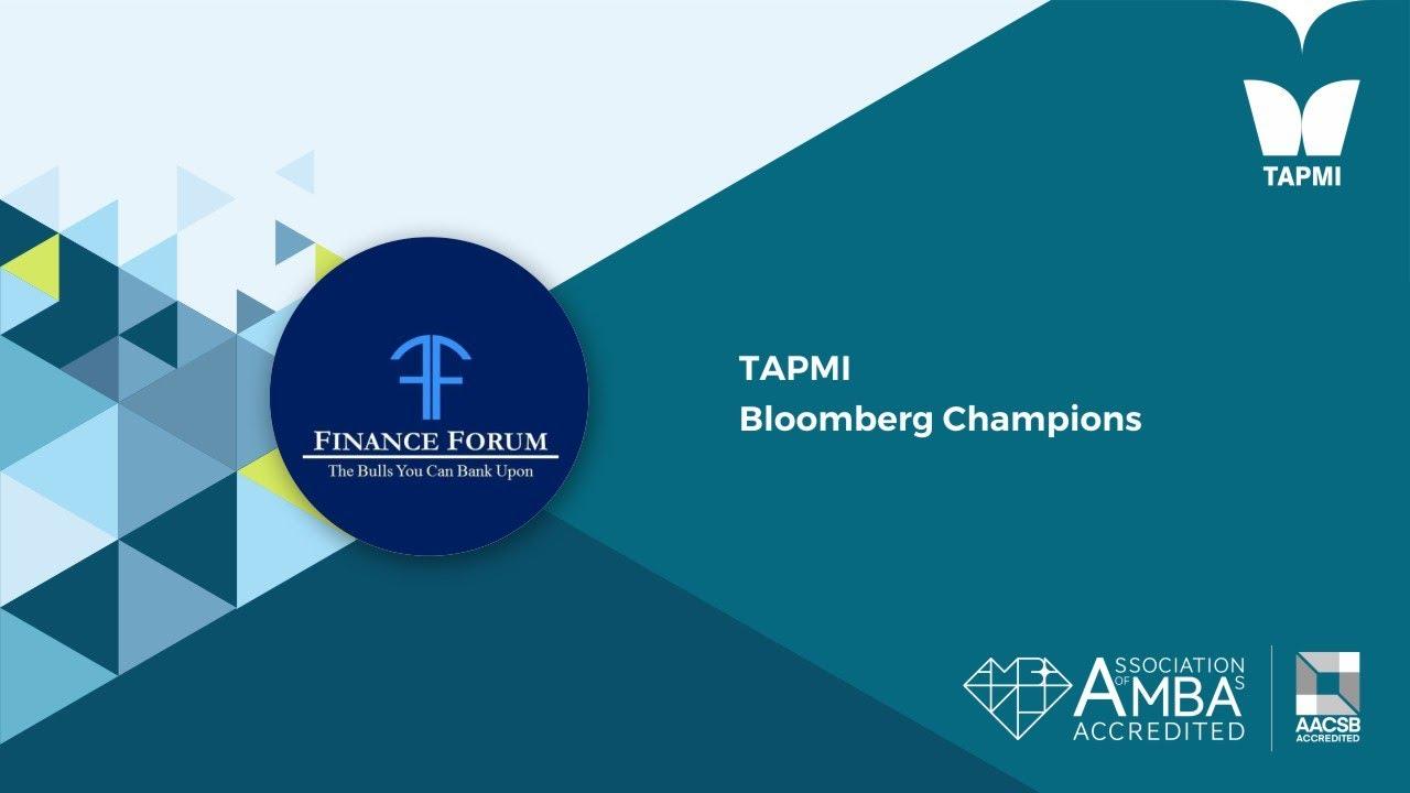 TAPMI   Bloomberg Champions