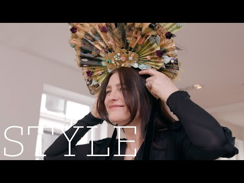 Tabitha Simmons and a Dolce & Gabbana headpiece | A Life in Clothes | The Sunday Times Style