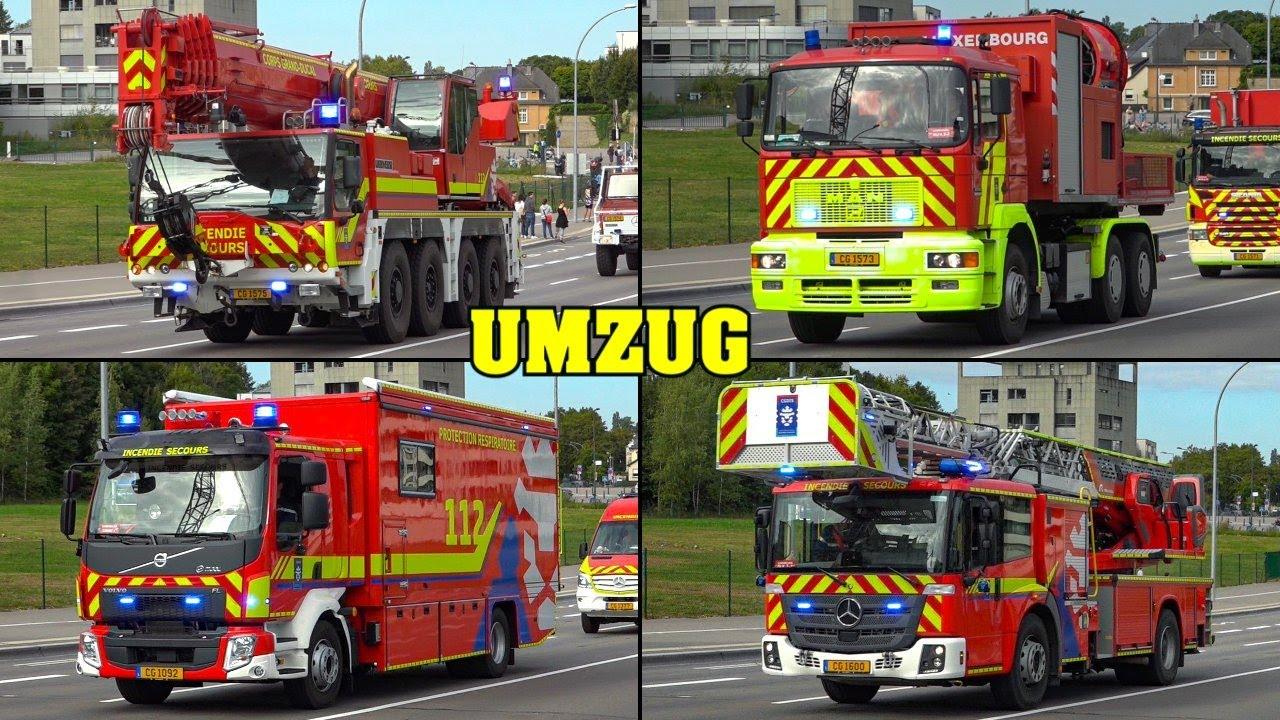 Download [30 FAHRZEUGE!] - Großer Umzug der FEUERWEHR LUXEMBURG (CGDIS) ins neue NATIONALE NOTFALLZENTRUM!