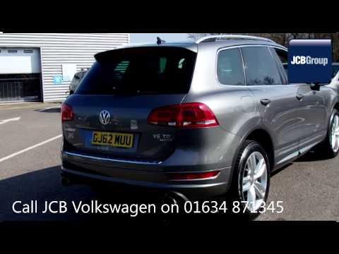 2012 Volkswagen Touareg V6 ALTITUDE TDI BLUEMOTION 3l Grey GJ62MUU for sale at JCB VW Medway