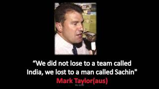 Mark Taylor about Sachin Retirement