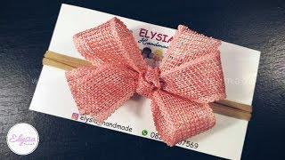 Headband Ideas : Laco Boutique -  DIY Bando Pita Mudah & Cepat | by Elysia Handmade