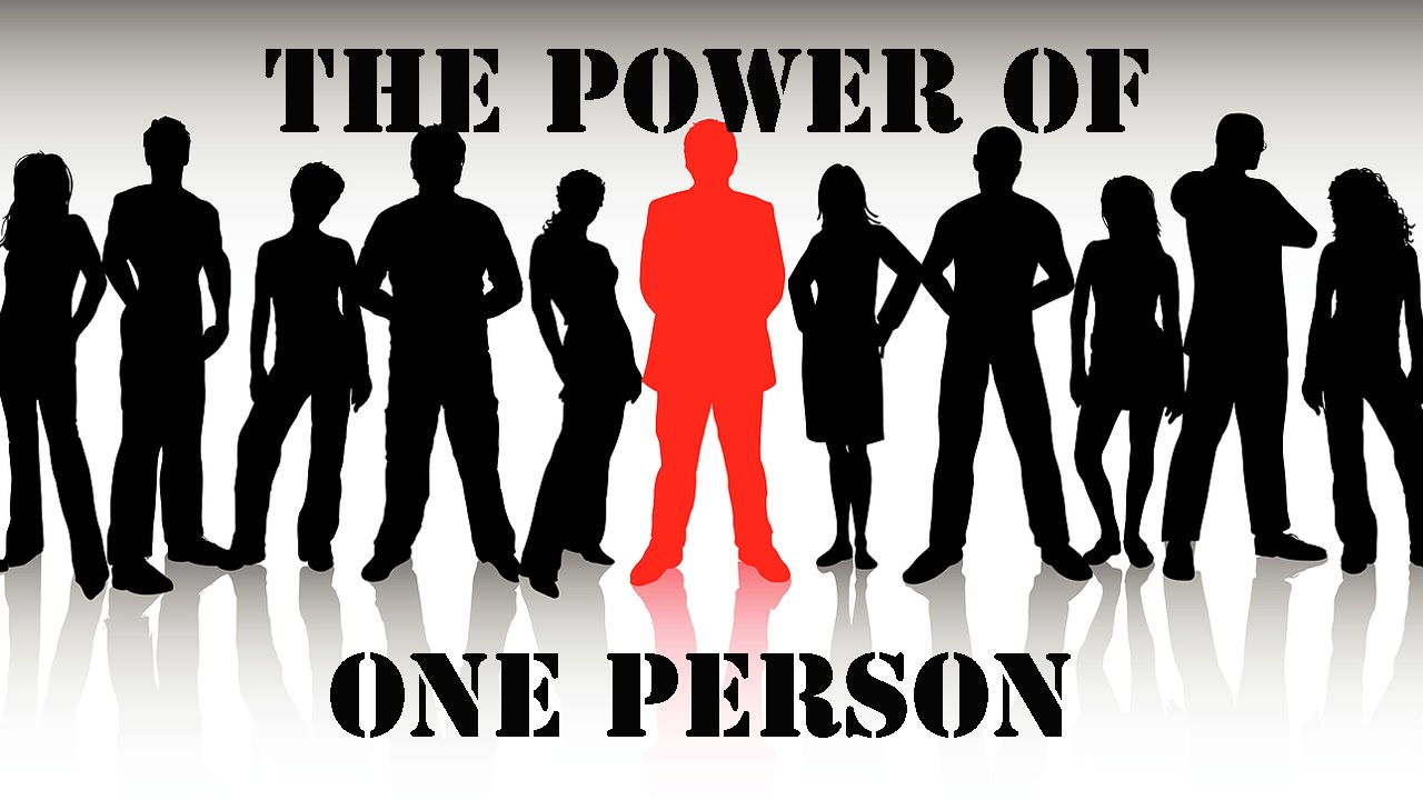 the influential power of one person The power of one voice, one person when you consider the power each person has to make a how to become an influential leader harness the power of pre.