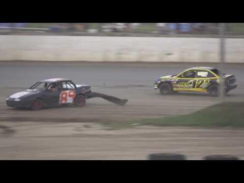 Nathan Goodman flip at Oakshade Raceway 7 23 16