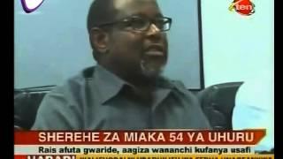 Rais Magufuli Afuta Sherehe za Miaka 54 ya Uhuru