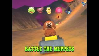 Muppet RaceMania PS1/PSX : Battle gameplay