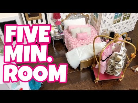 American Girl Doll 5 Minute Room Challenge - Luciana Vega Girl of the Year