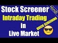 Stock screening for intraday trading | Easy analysis screening for profits