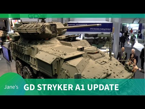 General Dynamics US Army Stryker upgrade to A1 configuration (AUSA 2018)