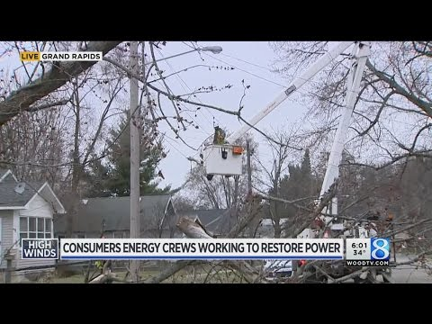 Consumers Energy works around the clock to restore power