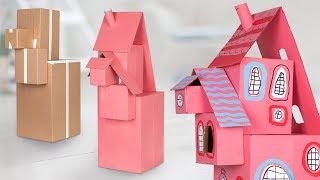 DIY Cardboard Dollhouse | Easy & Cute Crafts for Kids