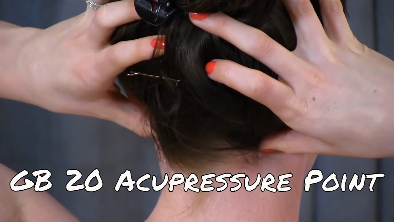 Self Myofascial release of GB20 - Acupuncture Point