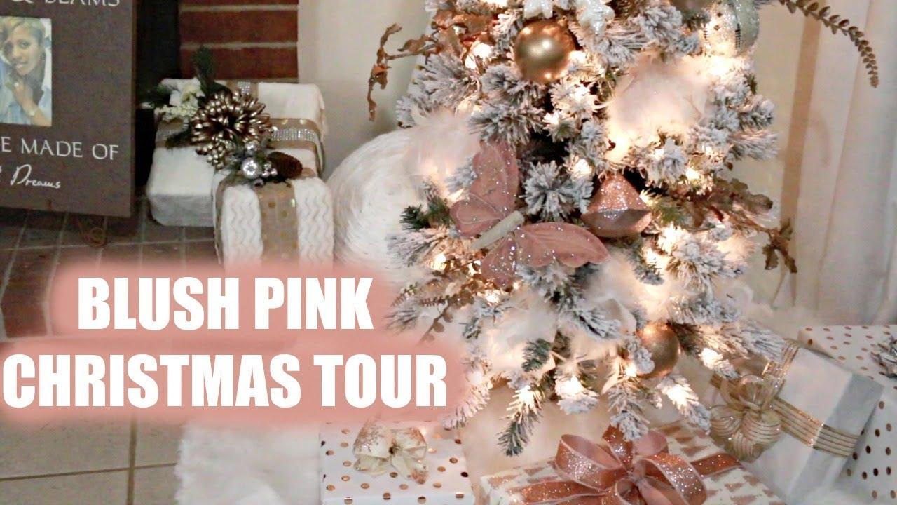 Blush pink faux fur christmas 2017 missthompson youtube - Blush pink christmas decorations ...