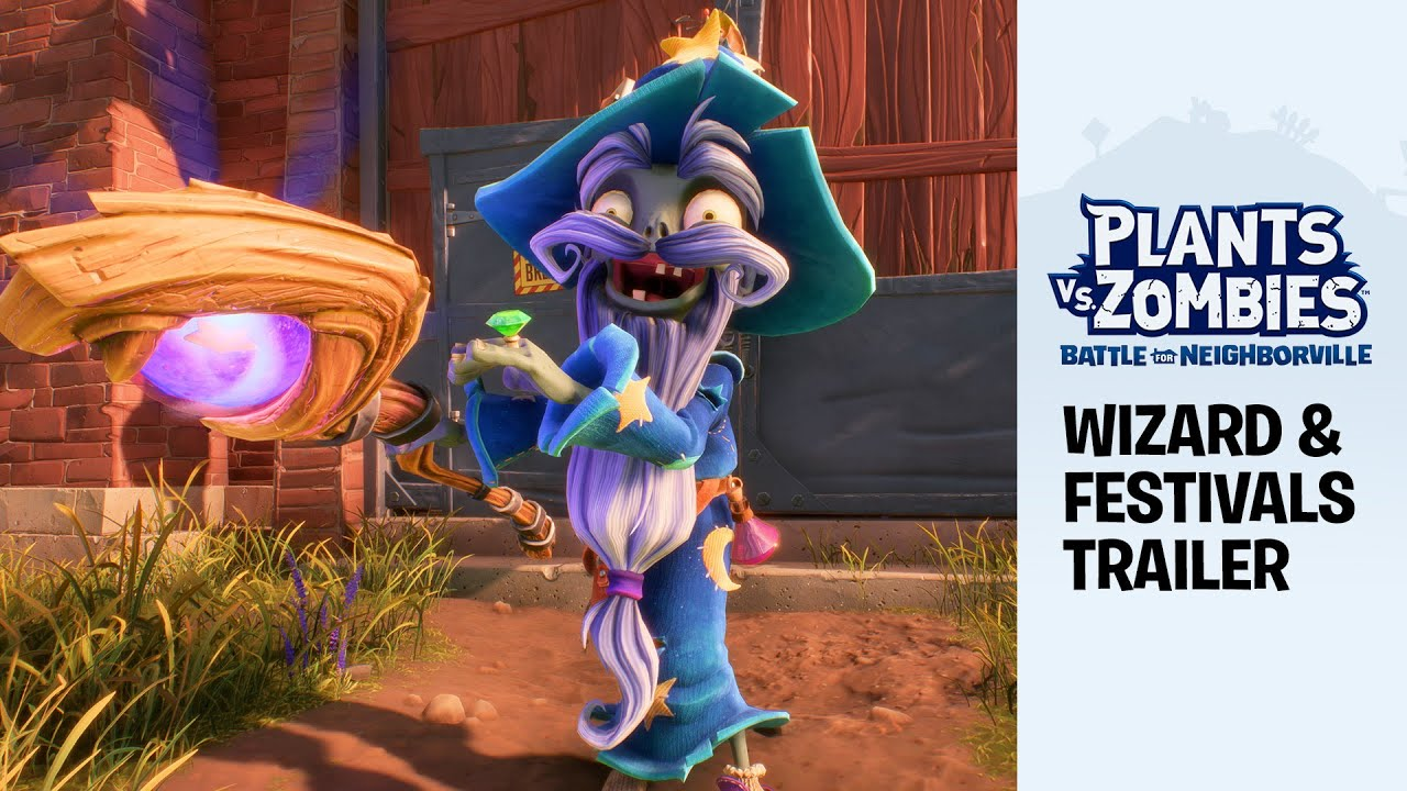 Plants vs. Zombies: Battle for Neighborville - New Festival Content Trailer ft. Wizard