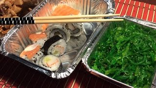 ASMR EATING SUSHI | Sushi, Seaweeds Salad and Tao-fu (Tofu)! | Eating Sounds