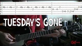 guitar lessons online Lynyrd skynyrd tuesday's gone tab