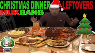 [MUKBANG] MASSIVE CHRISTMAS DINNER-LEFTOVERS