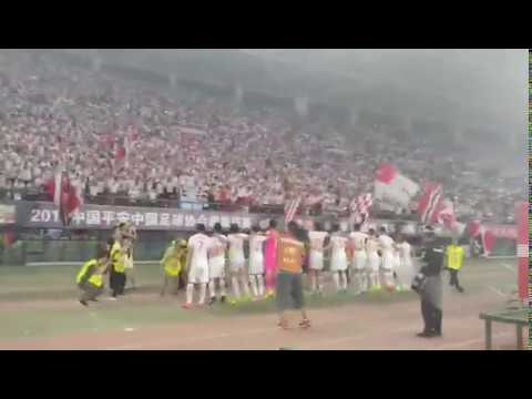 Tianjin Quanjian celebrate big win against Guangzhou Evergrande