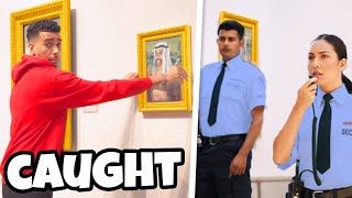 SNEAKING My Painting Into The National ART GALLERY
