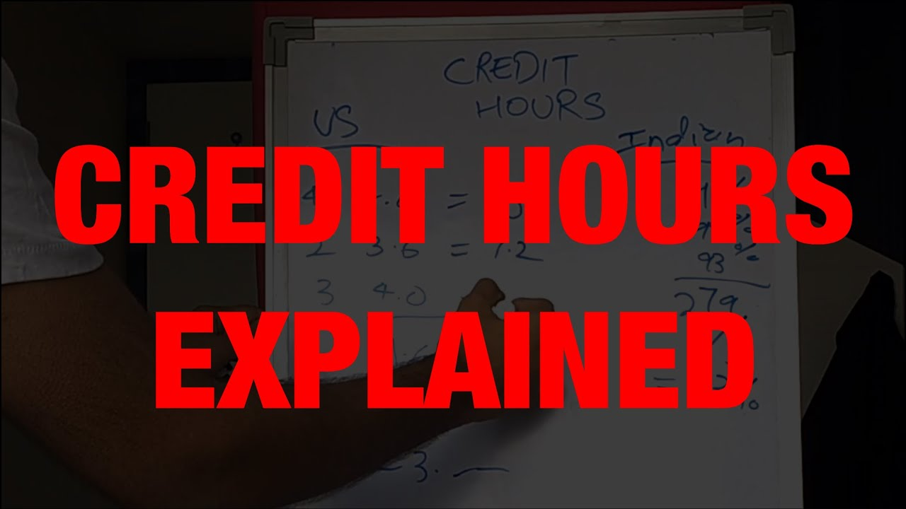 US University Credit Hours Explained | That Indian Guy