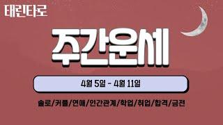 [태린타로]  4월 둘째주 주간운세 (연애/금전/인간관…