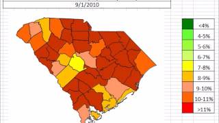 South Carolina Unemployment By County October 2013