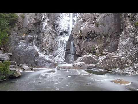 Meander Falls Tasmania, Winter Ice (Clip)