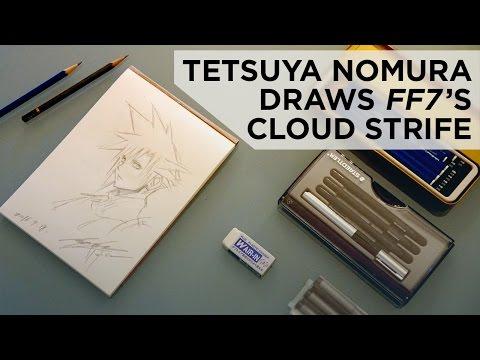 Tetsuya Nomura Draws Cloud Strife from Final Fantasy VII