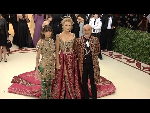 ca25a67bfa88 Blake Lively and Christian Louboutin at the 2018 MET Gala - YouTube